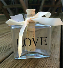 GLASS BOTTLE - LOVE - Valentine Wedding Favours