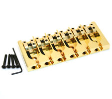"Hipshot Gold/Brass 6-string A Series Bass Bridge .708"" String Spacing 5A600G"