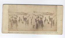 STEREOVIEW OF SKATING SCENE IN CENTRAL PARK , NYC, CA. 1859