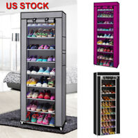 9 Lattices Portable Fabric Shoe Rack Shelf Storage Closet Home Organizer Cabinet