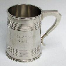"""1946 BIRMINGHAM STERLING SILVER 4"""" BEER TANKARD"""