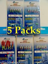 5 Packs Size12 Sabiki Bait Rigs Offshore Saltwater Fishing Lures Combo