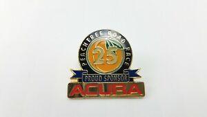 Vintage Peachtree Road Race Acura Sponsor Hat Or Lapel Pin Georgia Peach