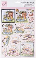 "Anita's Foiled Decoupage Sheet - ""Cuppa & A Book"""