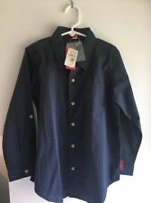 One Kid, Neiman Marcus, Shirt, Striped, Long Sleeve, Blue, Size 6, NWT