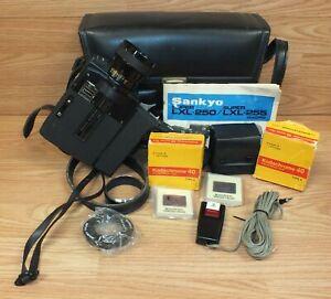 Vintage Sankyo Super LXL-255 Macro Super Eight Camera Bundle With Case **READ**