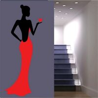 Black Lady Wall Stickers Dress Wall Art Stickers Decals Bedroom Stencils Huge