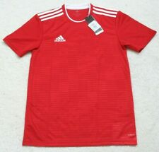 New Adidas Climalite Short Sleeve Red & White Crewneck Tee T-Shirt Top Small M6