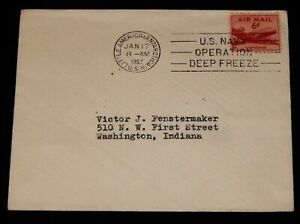 Vintage Cover,UNITED STATES, LITTLE AMERICA,Antarctica,Operation Deep Freeze,USN