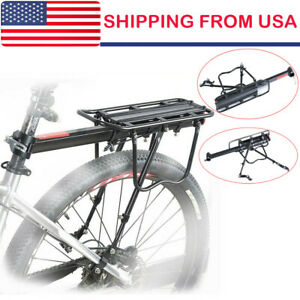 Fenix Cycles Steel 26 Bike Rear Rack Bicycle Carrier Black 6 3//8in W x 19 1//2in L,