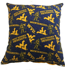 West Virginia WV Pillow The Mountaineers NCAA Handmade Pillow WV Pillow Made USA