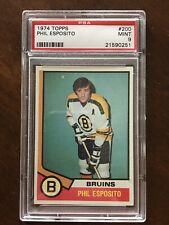 1974 Topps Phil Esposito #200 PSA 9 MINT Boston Bruins Low Pop, None Higher