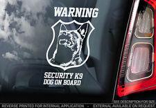 Belgian Malinois - Car Window Sticker - Dog Sign -V08