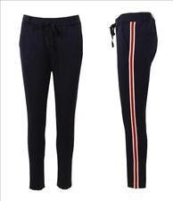 ESViViD Sportliche Jersey Hose Chino Gr. M 40 42 dunkelblau weiß rot Streifen