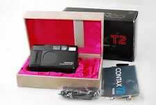 Contax T2 Black limited Version 35mm Point & Shoot Film Camera #0822