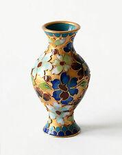 Vaso Cloisonnè Lavorazione Cinese Oriental Ancient Antique Vase Copper H.8cm