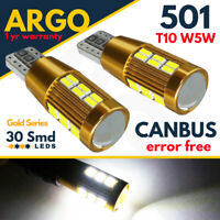 501 T10 CAR LED ERROR FREE CANBUS 30 SMD XENON WHITE W5W SIDE LIGHT BULBS 12V