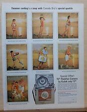 1963 magazine ad for Canada Dry soda - Kodak Flashfun Camera promo, Summer snaps
