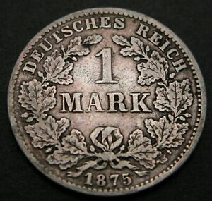 GERMANY (Empire) 1 Mark 1875 C - Silver - Wilhelm I. - 493