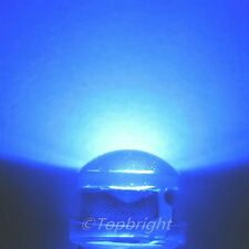 100 PCs HP 1W 8mm 140° StrawHat 450nm BLUE LED 140,000mcd