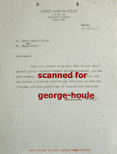 HARRISON FORD - TYPED LETTER - SIGNED - 1937 - SILENT SCREEN ACTOR - CLARA BOW