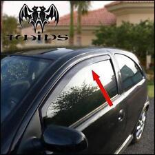 Déflecteurs de vent pluie air teintées pour Opel Corsa C 3p 3 portes 2000-2006