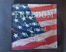 Freedom a State of Mind A Way of Life Military Hallmark Picture Trivet