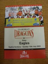 13/06/2000 Cricket Programme: Glamorgan v Essex  . Thanks for taking the time to