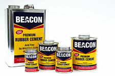 WHITE RUBBER CEMENT-BIG 16oz can! Dries Clear, stays flexible! FOAM SAFE  Beacon