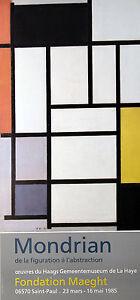 #119428 120x80cm Piet MONDRIAN-Composizione nr III astratto POSTER MANIFESTO