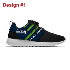 SEATTLE SEAHAWKS Men's Women's Lightweight Tennis Shoes Sneakers Football Team