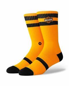 Large NEW Neon Orange Stance Icon Socks