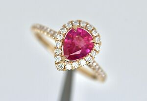 New 18ct Rose Gold Natural Pink Sapphire and Diamond Ring - lab certificate