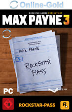 Max Payne 3 Rockstar Pass - PC Version - STEAM Digital Code Addons NEU [DE/EU]