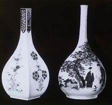 """Old Japan"" Imari Sake Bottles, Magic Lantern Glass Slide"