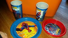 LOT OF  SPIDERMAN PLASTIC PLATES AND CUPS