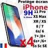 Protection Écran pour iPhone 7 8 6s 6 Plus 5 X XR Xs Max Vitre Verre Trempé Film