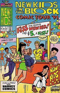 NEW KIDS ON THE BLOCK COMIC TOUR '91 NUMBER 3 FEBRUARY 1991 HARVEY COMICS