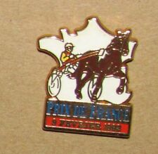 no:a14 VINTAGE pin  Horse Cheval Jockey PRIX DE FRANCE 1992