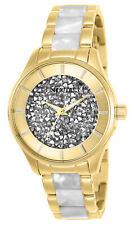Invicta Women's Watch Angel Quartz Silver Tone Crystal and Gold Tone Dial 25245