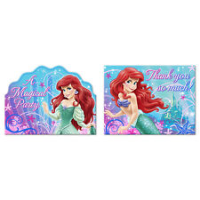 Little Mermaid Sparkle Birthday Party Supplies Invitations and Thank You Cards