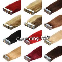 Extensions De Cheveux Tape Rubans en Adhésif Cheveux naturels REMY 40/60cm Trame
