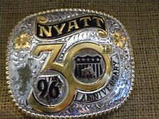 GIST Silversmiths 1996 NYATT 30 Anniversary Belt Buckle