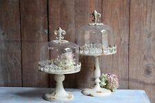 Fleur de Lis Four Cloche Shabby Chic Cake Wedding Decor