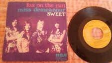 "SWEET Fox on the run (Alla va el zorro) 7"" SINGLE Spain 1975"