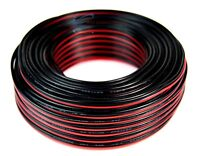 100' Feet 20 GA Gauge Red Black 2 Conductor Speaker Wire Audio Cable Audiopipe