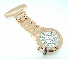 Ravel Unisex Rose Gold  Nurses Fob Watch With Light Backlight R1101EL