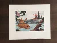 Maryland Trout Color Print w/stamp -Signed by Stephen Perriner-1989