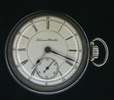 Hampden 18s RailRoad Grade Special Adjusted Pocket Watch Running
