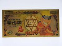 Billet Naruto Gold / Carte Cardass Figurine Card Yen / Manga / Sasuke Kakashi